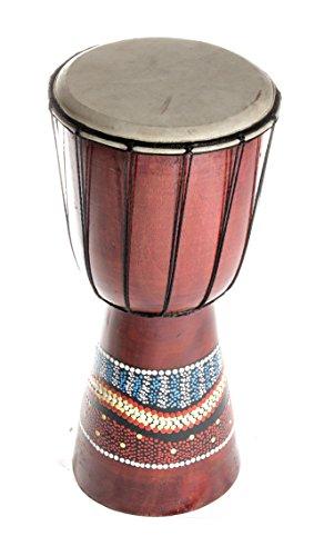 30cm djembe bunt bemalt trommel drum handarbeit klangspiel therapie info. Black Bedroom Furniture Sets. Home Design Ideas